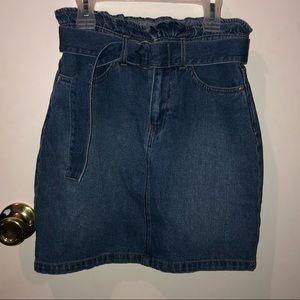 Denim H&M high waisted skirt